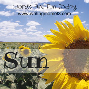 words are fun friday sun sunflower