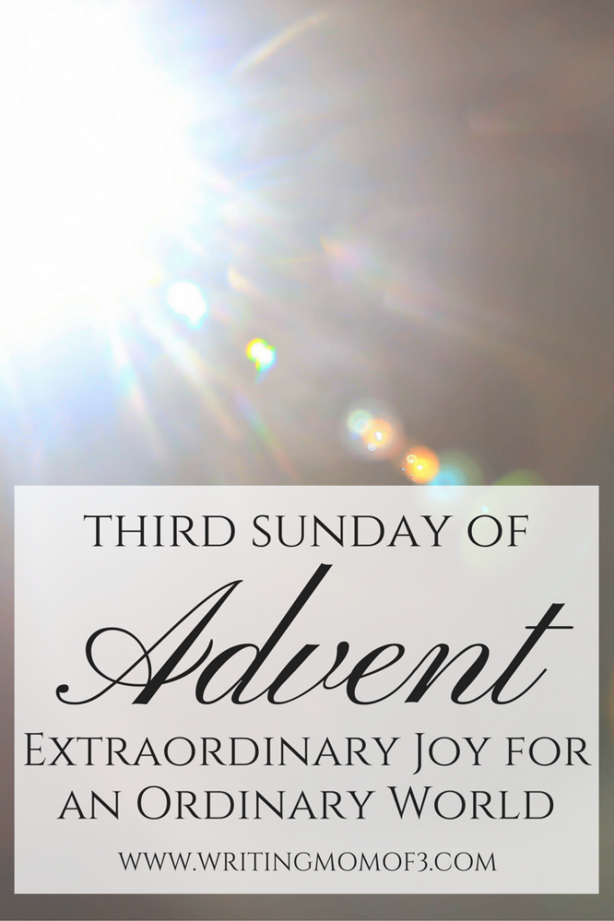 Advent worship | Extraordinary Joy for an Ordinary World